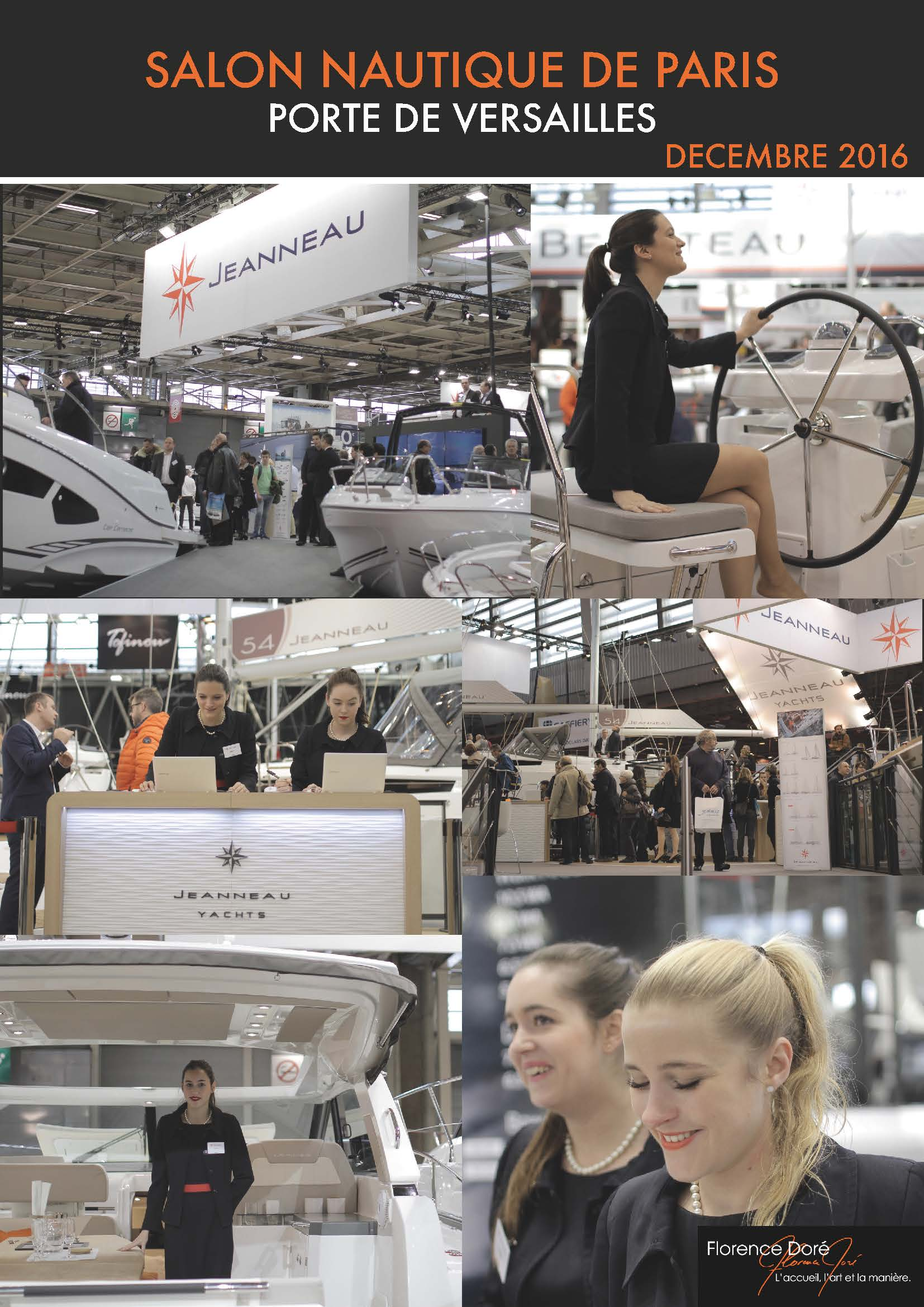 Florence dor salon nautique international de paris 2016 for Salon nautisme paris